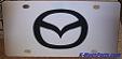 Mazda emblem vanity license plate tag