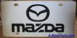 Mazda script emblem vanity license plate tag