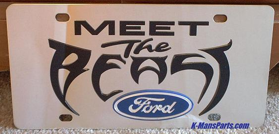 Ford Meet the Beast s/s plate