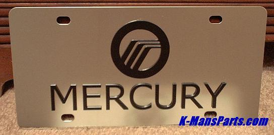 Mercury w/script (black) S/S plate