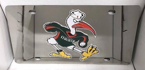 Miami Hurricanes mascot vanity license plate car tag