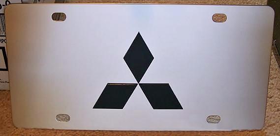 Mitsubishi emblem vanity license plate tag