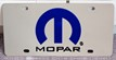 MOPAR emblem vanity license plate car tag