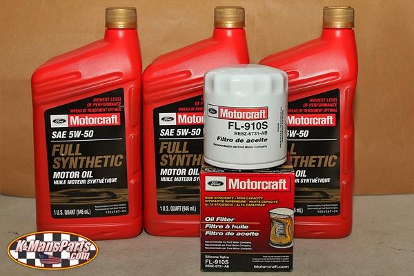 Motorcraft 5w 50 full synthetic motor oil change kit 2016 for 5w 50 synthetic motor oil