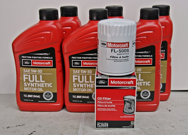 Motorcraft 6qt 5W-30 Full Synthetic Oil change kit 3.5