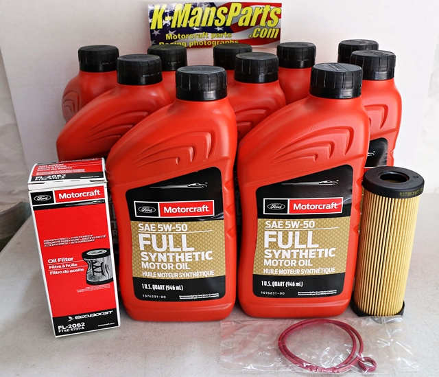2017 GT350 5.2 Motorcraft 10qt 5W-50 Full Synthetic Oil change kit