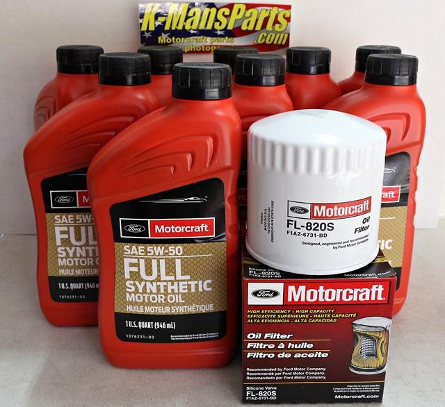 Full Synthetic Oil Change >> 2013 2014 Gt500 5 8 Motorcraft 9qt 5w 50 Full Synthetic Oil Change Kit