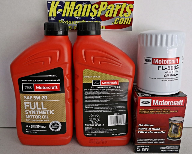 Full Synthetic Oil Change >> Motorcraft 10qt 5w 20 Full Synthetic Oil Change Kit Mustang Gt 5 0 4v