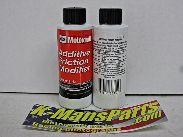 Motorcraft XL-3 Ford rear axle additive friction modifier 4 oz. bottle