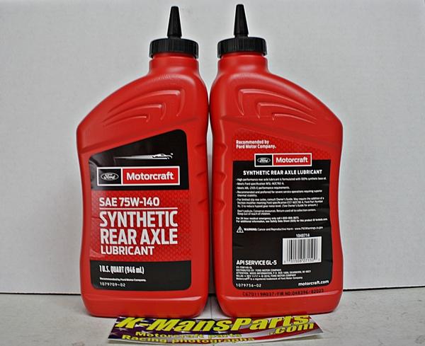 Motorcraft rear axle synthetic lubricant XY-75w140-QL quart