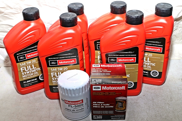 Motorcraft 6qt 5W-20 Full Synthetic Oil change kit 3.7