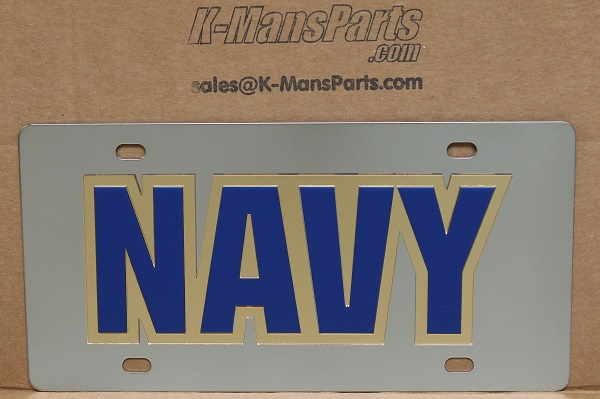 US Navy vanity mirror license plate car tag