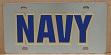US Navy vanity mirror license plate car tag