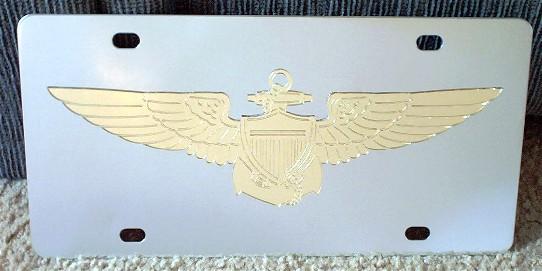 US Navy Pilot vanity license plate car tag