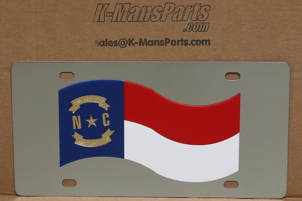 North Carolina flag vanity license plate car tag