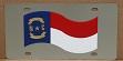 North Carolina flag vanity license plate car tag