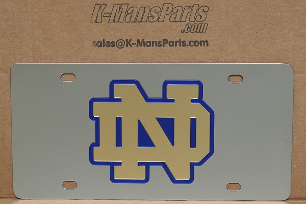 Notre Dame Fighting Irish ND vanity license plate car tag