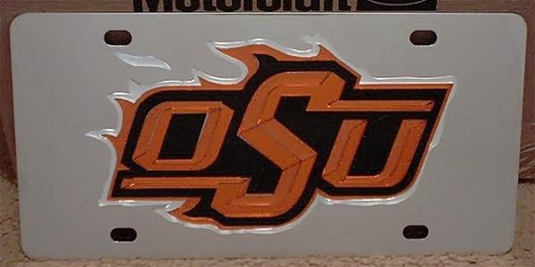 Oklahoma State Cowboys OSU vanity license plate car tag