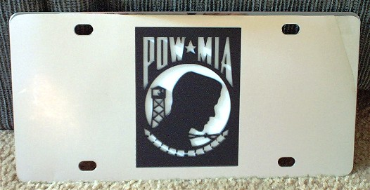 POW MIA vanity license plate car tag