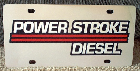 Ford Power Stroke Turbo Diesel 6.0 s/s plate