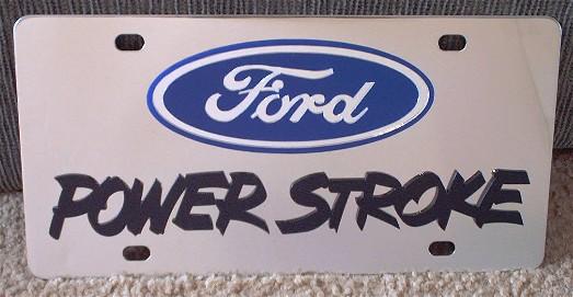 Ford Power Stroke Turbo Diesel Black s/s plate