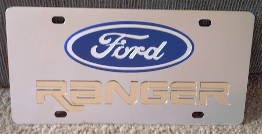 Ford Ranger gold vanity license plate car tag