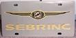 Chrysler Sebring gold stainless license plate tag