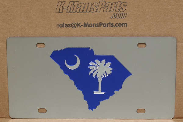 South Carolina state blue vanity license plate car tag