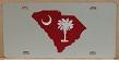 South Carolina state maroon vanity license plate car tag