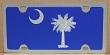 South Carolina full flag blue vanity license plate car tag
