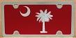 South Carolina full flag maroon vanity license plate car tag