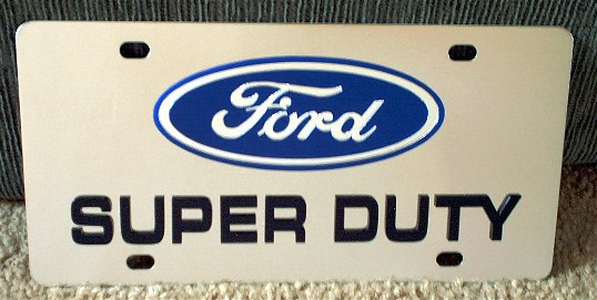 Ford Super Duty vanity license plate car tag