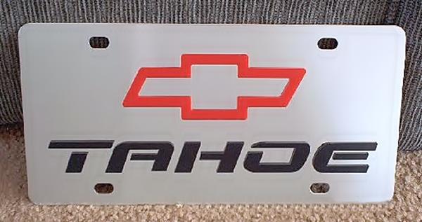 Chevrolet Tahoe vanity license plate tag