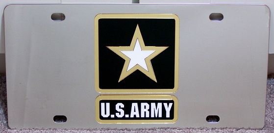 US Army star vanity license plate car tag