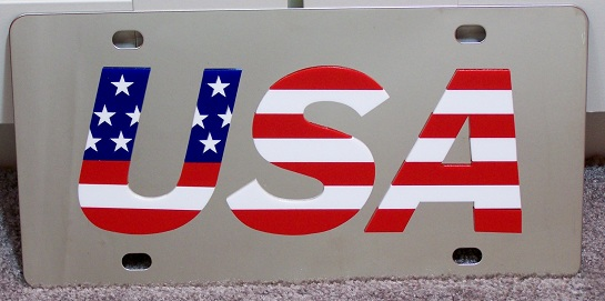 USA vanity license plate car tag