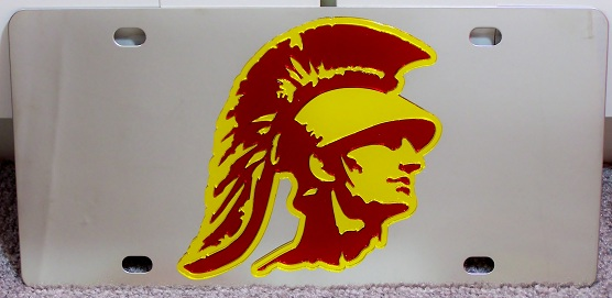 Southern Cal Trojans USC vanity license plate car tag