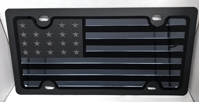 US American tactical flag vanity license plate car tag