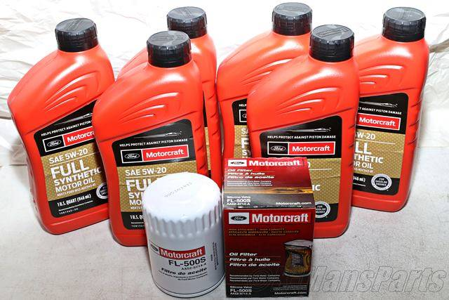 Full Synthetic Oil Change >> Motorcraft 6qt 5w 20 Full Synthetic Oil Change Kit 3 7