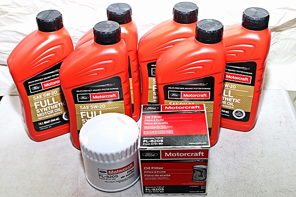 Motorcraft 6qt 5W-20 Full Synthetic Oil change kit 4.6
