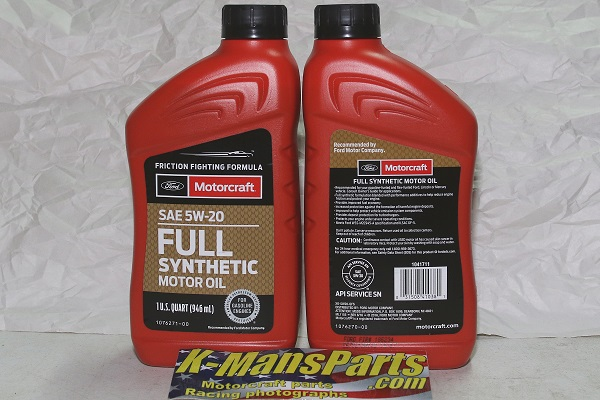Motorcraft 5w 20 full synthetic motor oil for What is synthetic motor oil made out of