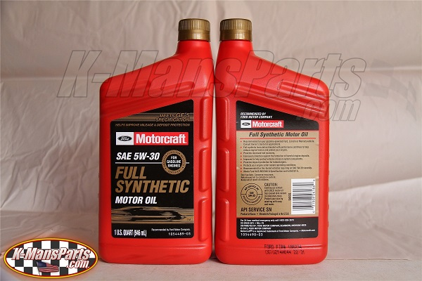 Motorcraft 5w 30 full synthetic motor oil for Best non synthetic motor oil