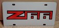 Chevrolet Z66 vanity license plate tag