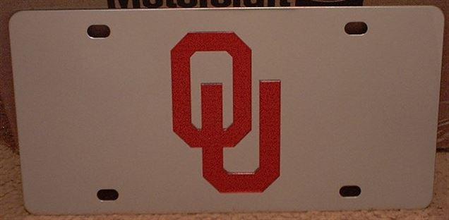 Oklahoma Sooners OU vanity license plate car tag