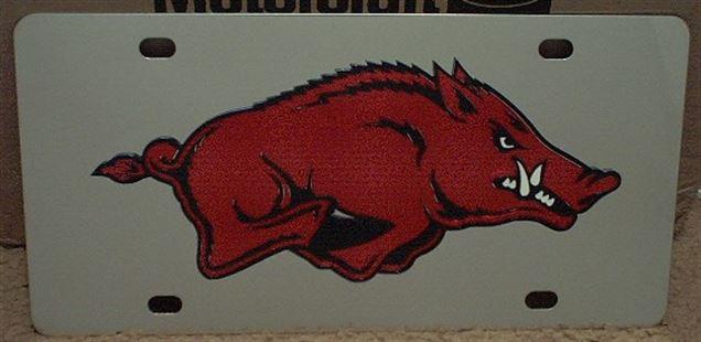 Arkansas Razorbacks vanity license plate car tag
