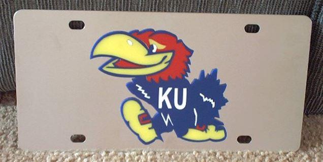 Kansas Jayhawks vanity license plate car tag