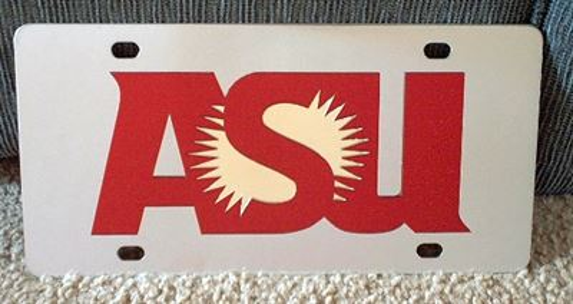 Arizona State Sun Devils vanity license plate car tag
