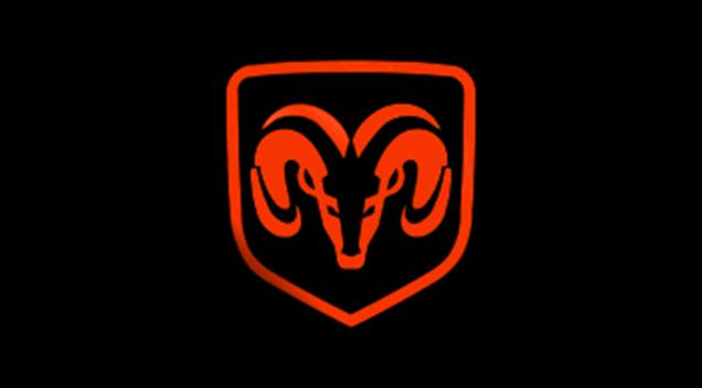 Dodge Ram shield red black plate