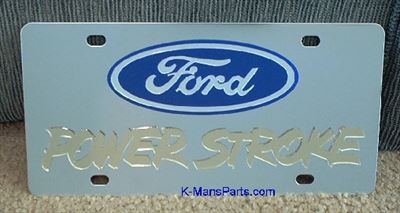 Ford Power Stroke gold stainless steel plate vanity tag