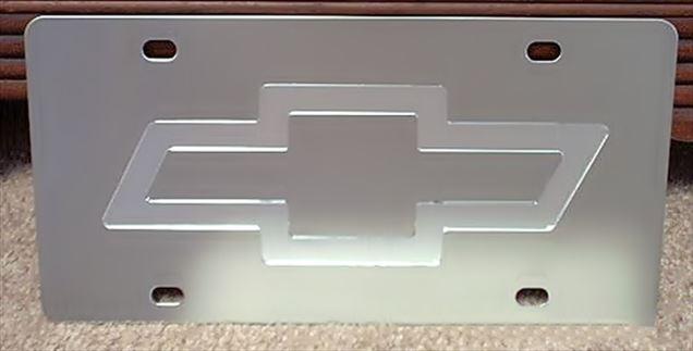 Chevrolet Bowtie mirror vanity license plate car tag