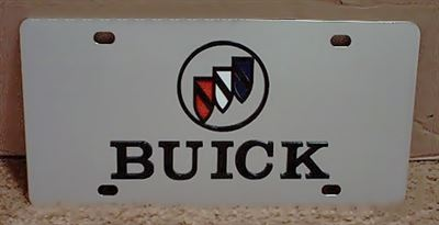 Buick emblem license plate tag